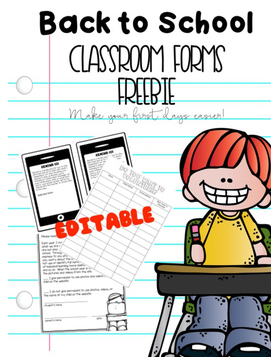 Are you on the lookout for FREE classroom forms to help make this the best back to school season yet? Then you're in luck! Everything you want is right here! Click through to grab your freebie. It includes a schedule, Remind 101 form, Scholastic book order form, volunteer sign up form, and website permission form. Some of these are editable so you can better use them to meet your needs. Grab them now for your preschool, Kindergarten, 1st, 2nd, 3rd, 4th, or 5th grade classroom students.