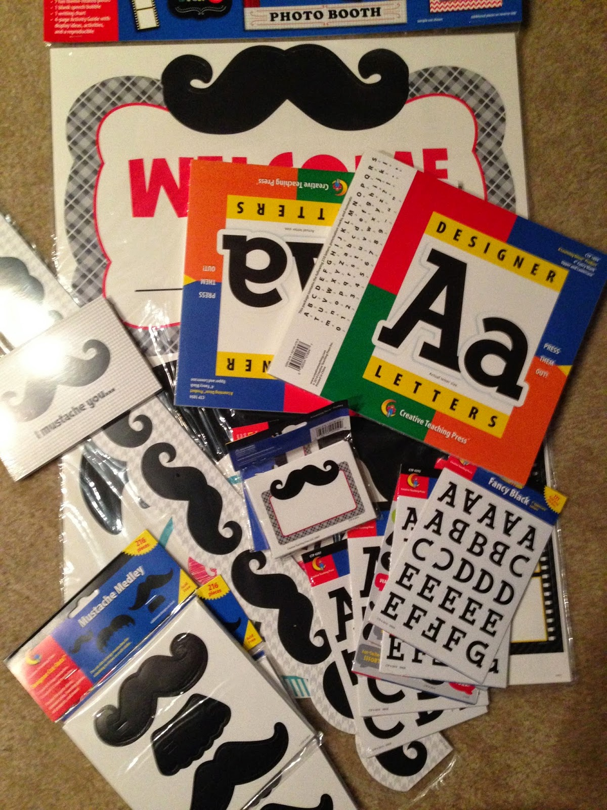 """Are you looking for a great, fun way to get your preschool, Kindergarten, or first grade students writing? Then you're going to love this idea! I """"mustache"""" you to click through to get all the details, but I promise you'll love it! Better yet - your students will be excited to write! You'll get compliments from other classes, teachers, administrators, and even parents! Click through now for all the details! {preK, Kinder, or first grader}"""